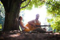 Almuth Kramer & Babek Bodien at Tiergarten Steinkreis, Berlin