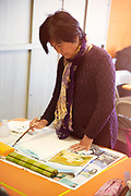 Senior Asian Woman Doing Painting Activity