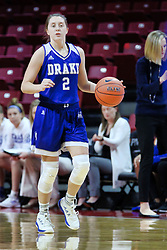 NORMAL, IL - January 06: Maddie Monahan during a college women's basketball game between the ISU Redbirds and the Drake Bulldogs on January 06 2019 at Redbird Arena in Normal, IL. (Photo by Alan Look)