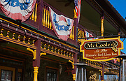 Victorian architecture, McCoole's at the Historic Red Lion Inn, Quakertown, Bucks Co. PA