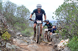 WORCESTER, SOUTH AFRICA - MARCH 21: Adventurer Martin Dreyer during stage three's 122km from Robertson to Worcester on March 21, 2018 in Cape Town, South Africa. Mountain bikers from across South Africa and internationally gather to compete in the 2018 ABSA Cape Epic, racing 8 days and 658km across the Western Cape with an accumulated 13 530m of climbing ascent, often referred to as the 'untamed race' the Cape Epic is said to be the toughest mountain bike event in the world. (Photo by Dino Lloyd)