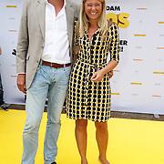 NLD/Amsterdam/20150628 - Premiere Minions, Sandra Ysbrandy en partner