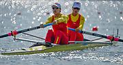 Eton Dorney, Windsor, Great Britain,<br /> <br /> 2012 London Olympic Regatta, Dorney Lake. Eton Rowing Centre, Berkshire[ Rowing].<br /> <br /> Description; Women's pair Repechage General views   Dorney Lake. 09:30:07  Monday  30/07/2012 [Mandatory Credit: Peter Spurrier/Intersport Images]