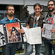 Business Design Centre, England, UK. 23rd August 2017. Artists bring their works to the Valiant review at the London Super Comic Convention 2017.