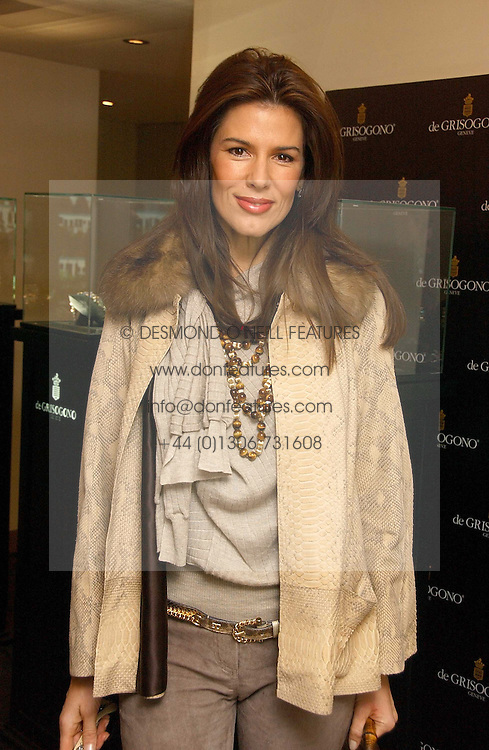 CHRISTINA ESTRADA JUFFALI at a lunch hosted by Fawaz Gruosi to celebrate the launch of De Grisogono's latest watch 'Be Eight' held at Nobu, 19 Old Park Lane, London W1 on 30th November 2006.<br /><br />NON EXCLUSIVE - WORLD RIGHTS