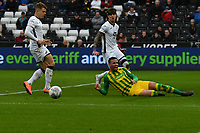 Football - 2019 / 2020 Sky Bet (EFL) Championship - Swansea City vs. West Bromwich Albion<br /> <br /> Hal Robson-Kanu of WBA fails to connect in front of goal, at The Liberty Stadium.<br /> <br /> COLORSPORT/WINSTON BYNORTH