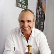 SANTA MONICA, CA, June 25, 2008: Writer and Director Ron Shelton, in his office in Santa Monica, California, is known for his movies that revolve around sports such as Bull Durham and Tin Cup.