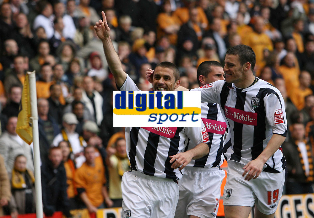 Photo: Rich Eaton.<br /> <br /> <br /> <br /> Wolverhampton Wanderers v West Bromwich Albion. Coca Cola Championship. Play off Semi Final, 1st Leg. 13/05/2007. Kevin Phillips left celebrates scoring to make it 2-2 in the second half for West Brom
