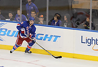 Ishockey<br /> NHL<br /> Foto: imago/Digitalsport<br /> NORWAY ONLY<br /> <br /> September 29, 2014: New York Rangers forward Mats Zuccarello (36) during a preseason hockey game between the Philadelphia Flyers and the New York Rangers at Madison Square Garden in New York, NY.