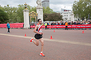 Moroccan para-athlete El Amin Chentouf running at The Mall during The Virgin London Marathon on 28th April 2019 in London in the United Kingdom. Now in it's 39th year, the London Marathon is a large sporting event with over 40,000 runners expected to take part.