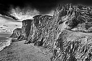 Cliffs along Bay of Fundy, Cape d'Or, Nova Scotia, Canada