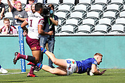 Adam Keighran scores. Vodafone Warriors v Manly Sea Eagles. NRL Rugby League, Central Coast Stadium, Gosford, NSW, Australia, Sunday 27th September 2020 Copyright Photo: David Neilson / www.photosport.nz