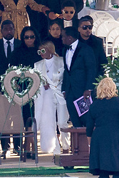 P Diddy at Kim Porter's funeral. 24 Nov 2018 Pictured: P Diddy and Mary J Blije. Photo credit: MEGA TheMegaAgency.com +1 888 505 6342