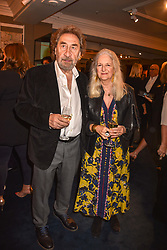 Howard Jacobson and Jenny De Yong at the third annual Fortnum's x Frank exhibition at Fortnum & Mason, 181 Piccadilly, London, UK on September 12, 2018.