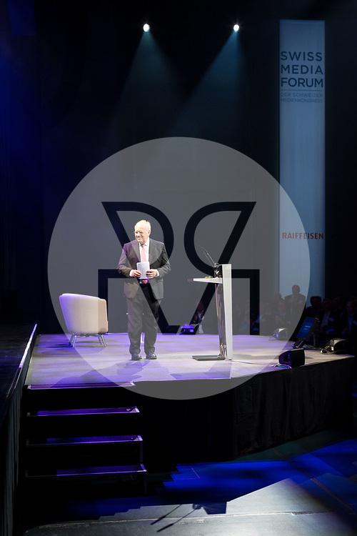 SCHWEIZ - LUZERN - SwissMediaForum 2018 im KKL, hier Bundesrat Johann Schneider-Ammann, FDP, bei seiner Ansprache - 27. September 2018 © Raphael Hünerfauth - http://huenerfauth.ch