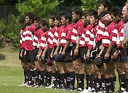 Oxford, England.<br /> <br /> IRB U21 Rugby World Cup - Iffley Road - Oxford   Japan, line up for the National Anthem.<br /> 21.06.2003. Italy vs Japan, [Mandatory Credit: Peter SPURRIER/Intersport Images]