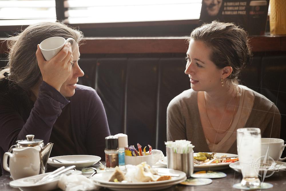 Two women eating Lunch in a pub in Dublin, Ireland