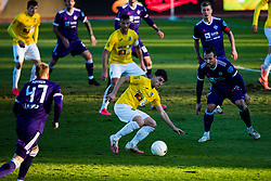 Zan Trontelj of NK Bravo vs Spiro Pericic of NK Maribor during football match between NK Bravo and NK Maribor in 12th Round of Prva liga Telekom Slovenije 2020/21, on November 21, 2020 in Stadium ZAK, Ljubljana, Slovenia. Photo by Grega Valancic / Sportida