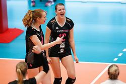 20180218 NED: Bekerfinale Eurosped - Sliedrecht Sport, Hoogeveen <br />Eline Gommans (4) of Team Eurosped, Rochelle Wopereis (12) of Team Eurosped<br />©2018-FotoHoogendoorn.nl