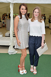 Left to right, SAMANTHA BARKS and CARA THEOBOLD at the St.Regis International Polo Cup at Cowdray Park, Midhurst, West Sussex on 17th May 2014.
