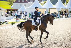 KLIMKE Ingrid (GER), Franziskus 15<br /> Preis des Landes Nordrhein-Westfalen<br /> Nat. Dressurprüfung Kl. S**** - Grand Prix de Dressage -<br /> Qualifikation zur Deutschen Meisterschaft der Dressurreiter<br /> Balve Optimum - Deutsche Meisterschaft Dressur 2020<br /> 18. September2020<br /> © www.sportfotos-lafrentz.de/Stefan Lafrentz