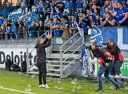 Cheftræner Christian Nielsen (Lyngby Boldklub) efter kampen i 3F Superligaen mellem Lyngby Boldklub og Hobro IK den 20. juli 2020 på Lyngby Stadion (Foto: Claus Birch).