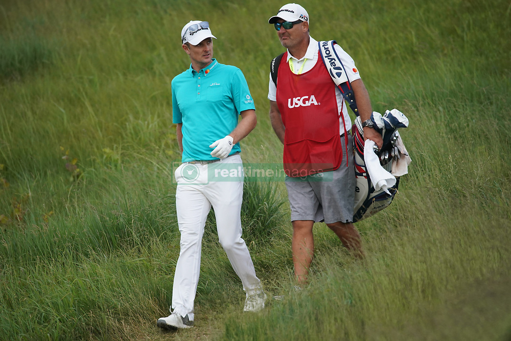 June 16, 2018 - Southampton, NY, USA - Justin Rose walks off the 15th tee during the third round of the 2018 U.S. Open at Shinnecock Hills Country Club in Southampton, N.Y., on Saturday, June 16, 2018. (Credit Image: © Brian Ciancio/TNS via ZUMA Wire)