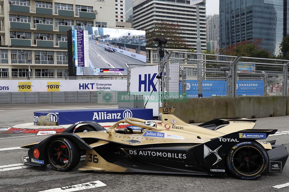 March 10, 2019 - Hong Kong, HONG KONG - 36, AndrŽ LOTTERER, GER, DS, Techeetah, Formula E Team, DS, E-TENSE, FE19HONG KONG, CHN, 10. March 2019, Formula E Hong Kong .E-Prix, FIA Formula E, Formula E Grand Prix 2019.  Formel E, Elektro e-prix Autorennen (Credit Image: © David McIntyre/ZUMA Wire)