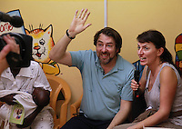 Today marks the 25th anniversary of Red Nose Day and Jonathan Ross and Davina McCall are in Accra, Ghana at a vaccine centre to see how cash raised by the British public is changing lives. Since it started in 1988 Red Nose Day has raised over £600 million and over the last 25 years that money will have helped 50 million people across Africa, the world's poorest countries and here in the UK. Keep up the good work. rednoseday.com ©Christian Thompson