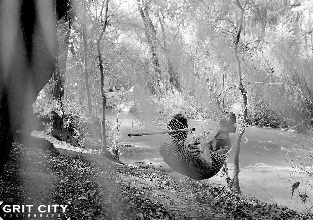 Hammock alongside Havasu Creek, Arizona.