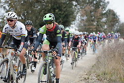 Sheyla Gutierrez (Cylance) at Strade Bianche - Elite Women. A 127 km road race on March 4th 2017, starting and finishing in Siena, Italy. (Photo by Sean Robinson/Velofocus)