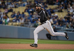 May 22, 2018 - Los Angeles, CA, U.S. - LOS ANGELES, CA - MAY 22: Colorado Rockies' Charlie Blackmon (19) sprints to second base during a Major League Baseball game between the Colorado Rockies and the Los Angeles Dodgers on May 22, 2018 at Dodger Stadium in Los Angeles, CA. (Photo by Kyusung Gong/Icon Sportswire) (Credit Image: © Kyusung Gong/Icon SMI via ZUMA Press)