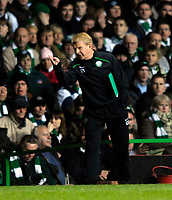 Photo: Jed Wee.<br /> Glasgow Celtic v Manchester United. UEFA Champions League, Group F. 21/11/2006.<br /> <br /> Celtic manager Gordon Strachan.
