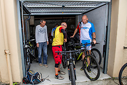 10-09-2017 FRA: BvdGF Tour du Mont Blanc day 1, Beaufort <br /> Vandaag vertrekken we vanuit Papendal in Arnhem naar naar het plaatsje Beaufort (nabij Chamonix) in Frankrijk / Tjebbe, John, Erwin
