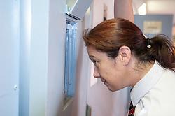 Prison officer locking up