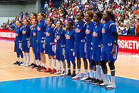 Equipe de France - 28.06.2015 - France / Serbie - Finale Championnat d'Europe feminin de Basket ball -Budapest<br /> Photo : Attila Volgyi / Icon Sport