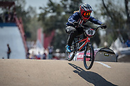 #99 (GEORGE Danielle) USA during practice at Round 9 of the 2019 UCI BMX Supercross World Cup in Santiago del Estero, Argentina