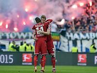 Fotball<br /> Tyskland<br /> 01.06.2015<br /> Foto: Witters/Digitalsport<br /> NORWAY ONLY<br /> <br /> v.l. Ivo Ilicevic, Slobodan Rajkovic (HSV)<br /> Fussball Bundesliga, Relegation Rueckspiel, Karlsruher SC - Hamburger SV