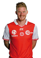 Gaetan Charbonnier of Reims during the photocall of Reims for new season of Ligue 2 on September 29th 2016 in Reims<br /> Photo : Stade de Reims / Icon Sport