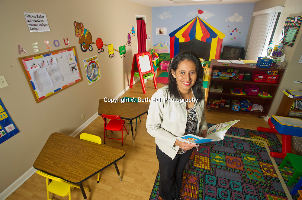 Lorena Ormeño-Larson at the Language school in Rogers, Ark., on Monday, November 11, 2013.<br /> Photo by Beth Hall