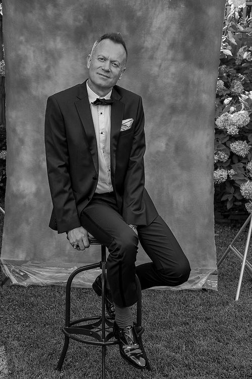 Snorre Wik portraits in the back yard of my house in Washington DC, Sept 5, 2020.   Photo by Ken Cedeno