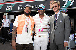Odell Beckham Jr, Pierre Casiraghi and Chris Tucker attend the F1 Grand Prix of Monaco on May 26, 2019 in Monte-Carlo, Monaco.<br /> Photo by David Niviere/ABACAPRESS.COM