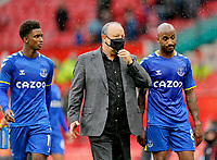 Football - 2021 / 2022 Pre-Season Friendly - Manchester United vs Everton - Old Trafford - Saturday 7th August 2021<br /> <br /> Everton manager Rafa Benitez discusses the game with Fabian Delph after the final whistle, at Old Trafford.<br /> <br /> COLORSPORT/ALAN MARTIN