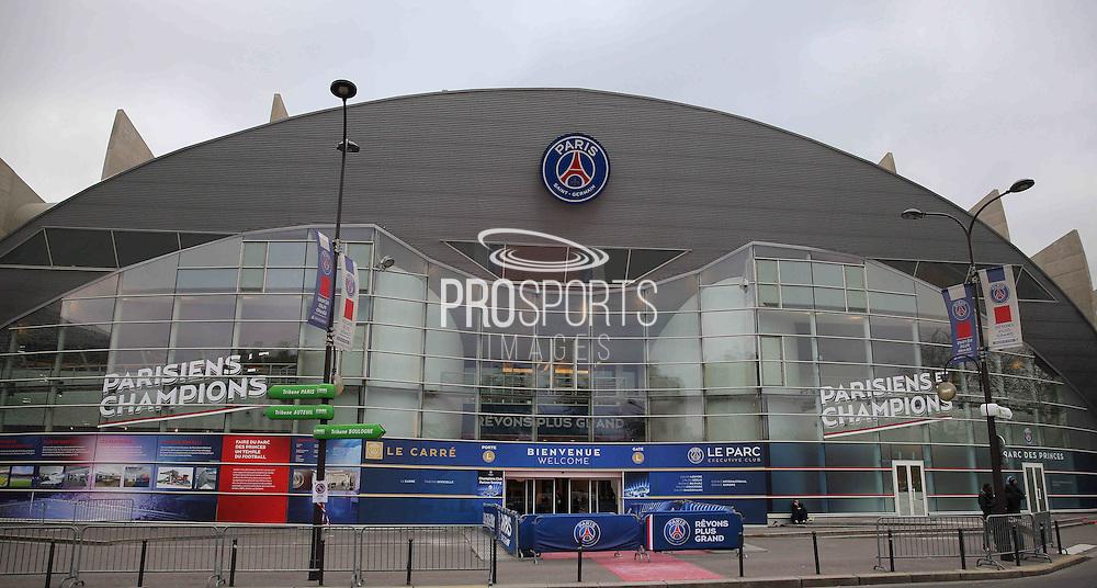 Outside the Parc des Princes during the Champions League match between Paris Saint-Germain and Chelsea at Parc des Princes, Paris, France on 17 February 2015. Photo by Phil Duncan.