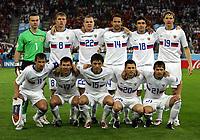 GEPA-1006086283 - INNSBRUCK,AUSTRIA,10.JUN.08 - FUSSBALL - UEFA Europameisterschaft, EURO 2008, Spanien vs Russland, ESP vs RUS. Bild zeigt (hinten von links) Igor Akinfeev (RUS), Denis Kolodin (RUS), Aleksandr Anyukov (RUS), Roman Shirokov (RUS), Yuri Zhirkov (RUS), Roman Pavlyuchenko (RUS), <br /> (vorne von links) Sergei Semak (RUS), Konstantin Zyrianov (RUS), Diniyar Bilyaletdinov (RUS), Igor Semshov (RUS) und Dmitri Sychev (RUS). <br />Foto: GEPA pictures/ Doris Schlagbauer