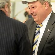 2/7/11 -- BRUNSWICK, Maine.  The U. S. Navy passed the Hangar 6 over to the MRRA today in a ceremony attended by Maine Governor Paul LePage, Congresswoman Chellie Pingree and a host of other members of local and state government. Roger S. Duncan Photo / For The Forecaster