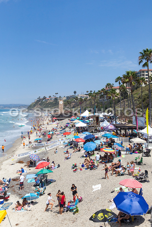Summer at the Beach in San Clemente California Stock Photo