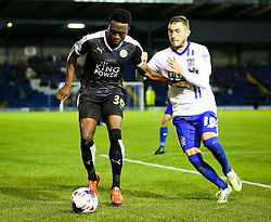 Joe Dodoo of Leicester City in action - Mandatory byline: Matt McNulty/JMP - 07966386802 - 25/08/2015 - FOOTBALL - Gigg Lane -Bury,England - Bury v Leicester City - Capital One Cup - Second Round