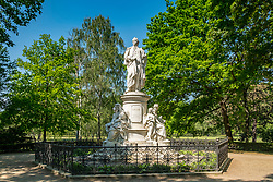Goethe statue in Tiergarten park in Berlin, Germany