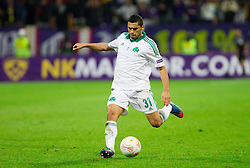 Nikos Spyropoulos of Panathinaikos during football match between NK Maribor and Panathinaikos Athens F.C. (GRE) in 1st Round of Group Stage of UEFA Europa league 2013, on September 20, 2012 in Stadium Ljudski vrt, Maribor, Slovenia. Maribor defeated Panathinaikos 3-0. (Photo By Vid Ponikvar / Sportida)
